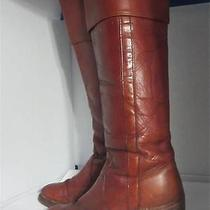Frye Vintage Black Label Leather Pull-on Boots Red Brown 8512 Made in Usa Sz 5.5 Photo