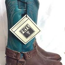 Frye Women's Billy Harness Turquoise/multi Leather  Western Boots Women Sz 5.5b Photo