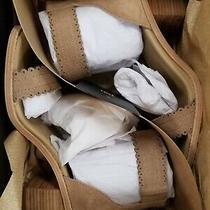 Frye Women's Brielle Scallop Back Zip Heeled Sandal - Size 8 Color Pale Blush Photo