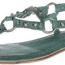 Frye Women's Carson Ring Thong Gladiator Sandal Turquoise Size 7.5 Photo