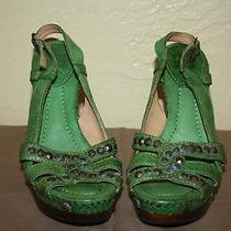 Frye Women's Cute Green Studded High Heel Sandals 9
