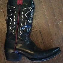 Frye Women's Daisy Duke Boot Western Cowboy With Black Leather Studs Size 9.5 M Photo