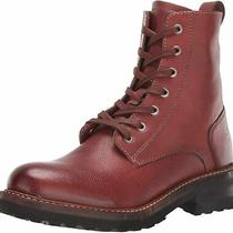 Frye Women's Ella Moto Lace Ankle Boot Redwood Size 6.0 Photo