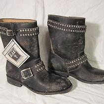 Frye Women's Jayden Cut Stud Black Motorcycle Boot Size 7.5 Style  76323 Photo