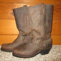 Frye Women's Leather Harness Boots Size 8m Brown Made in Usa Like New Euc   Photo