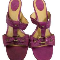 Frye Womens Purple Gerry Slide Heels Size 8m Photo