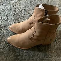 Frye Women's Ray Seam Short Camel Leather Boots Booties Sz 8 Worn Twice Photo