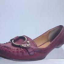 Frye Women's Ruby Ring Cherry Red Leather Upper and Sole Casual Flats Size 7 1/2 Photo