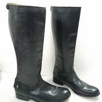 Frye Womens Black Leather Zip & Pull-on 17