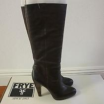 Frye Womens Harlow Campus Tall Boots New Size 9 Dark Brown 388 Photo