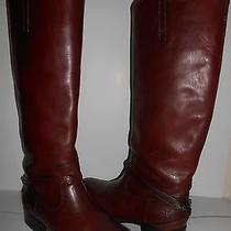 Frye Womens Lindsay Plate Burnt Red Boots Sz 6 Photo