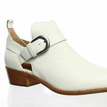 Frye Womens Mia Cut Out White Goat Pull Up Booties Size 10 (1530383) Photo