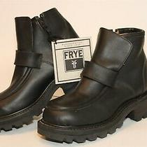Frye Womens Nwd Size 6 D Wide Leather Zip Ankle Chunky Boots 77785 Photo