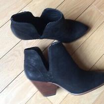 Frye Womens Reina Cut Out Sz 8.5 Black Nubuck Leather Ankle Booties 3478394 Photo
