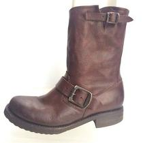 Frye Womens Shoes Size 5.5 B Brown Leather Fashion Boots 76509  Photo