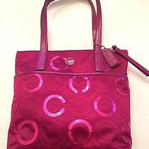 Fuchsia Coach Sequin Handbag Photo