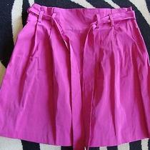 Fuchsia Theory Taffeta Paperbag Waist Party Skirt S 4 6 Photo