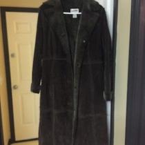 Full-Length Suede Coat Photo