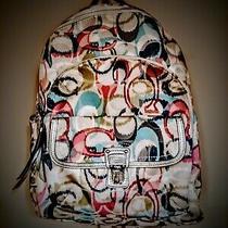 Full Size Coach Poppy Ikat Backpack Photo