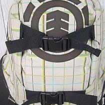 Full Sized Element Skateboard Backpack Beige Plaid W/ Brown Highlighted Logos Photo