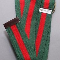 Fully Laced Classic Striped Ring Belt Green/red Gucci Color Size 2xl-3xl 40
