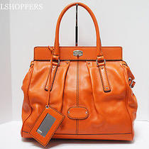 Fun 2500 Balenciaga Orange Leather Cherche Line Over-Sized Satchel Bag Photo