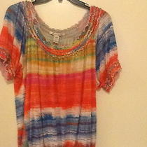 Fun American Rag Top Size 1x Euc Photo