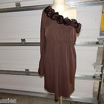 Fun and Dainty Dress by Judith March Brown One Shoulder Size L Photo
