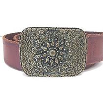 Fun and Fashionable Fossil Leather Belt With Decorative Buckle Photo