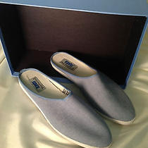 Fun Baby Blue Canvas Keds Slip-on Heels -New- Photo