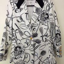 Fun Escada Margaretha Ley  Print Jacket 36 Us 6 Photo