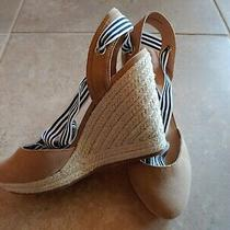 Fun Espadrille Lace Up Wedges Ribbon Size 8.5 New W/tags Retail 69 Express Photo