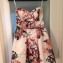 Fun Floral Print Strapless Dress Photo