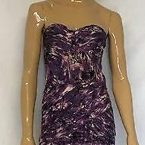 Fun Guess Purple Abstract Tube Top Dress Size L  Photo