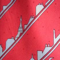 Fun Hermes Silk Tie the Paris Skyline at Night Photo