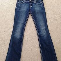 Fun Jeans Rerock for Express Distressed Bootcut Size 4l (W-32 Inseam-34) Photo