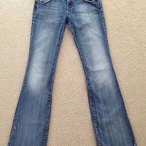 Fun Jeans Rerock for Express Distressed Bootcut Size 4l (W-32 Inseam-35) Photo