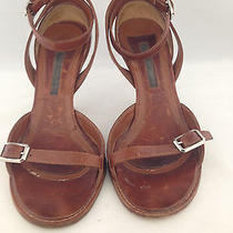 Fun Narciso Rodriguez Brown Strappy Heels 7 Photo