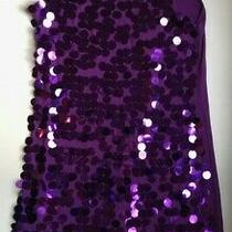 Fun Party Dress - Purple With Large Sequence .  Holidays  Charismas.  Size M.  Photo