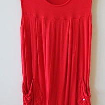 Fun Red Cotton Roxy Dress - Size 8 Photo