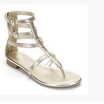 Fun Rock & Republic Gladiator Gold Sandals Sz 8.5 - Women Photo