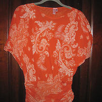 Fun Sweet Pea Pull Over Stretchy Mesh Top Anthropologie Medium Photo