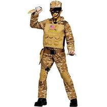 Fun World Fw131112-M Medium Boys Special Ops Commando Costume Photo