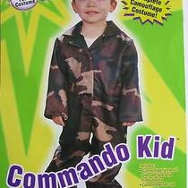 Fun World Toddlers 'Commando Kid' Halloween Costume Camoflouge Xxs Photo