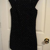 Funktional Adorable Black Dress W/bright Colored Mini Polka Dots Ladies Size Xs Photo