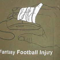 Funny Fantasy Football Injury T-Shirt 2xl Fingers on Computer Mouse Fun Photo