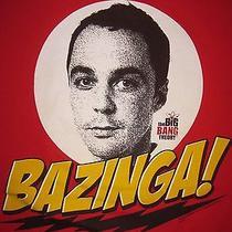 Funny the Big Bang Theory T Shirt Bazinga Xl Extra Large Red Tv Awesome  Photo