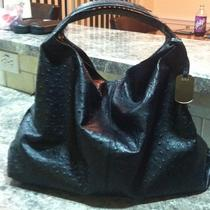 Furla Elisabeth Leather Ostrich Handbag Photo