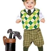Future Golfer 3-4t Child Shirt Pants Beret Sock/shoecovers Golf Bag & Clubs Photo