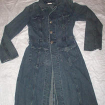 G-Brand (Guess) Vintage Stylish Duster Jean Coat Size Sm Photo